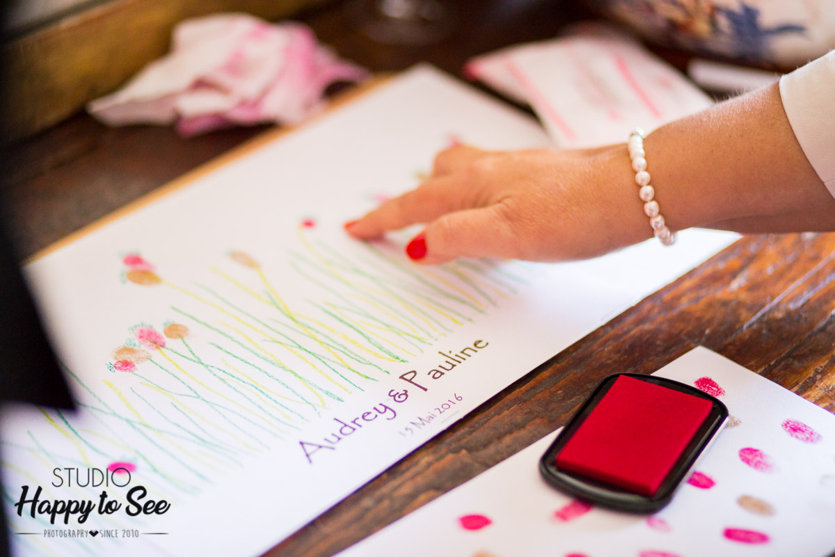 mariage empreintes souvenirs invites