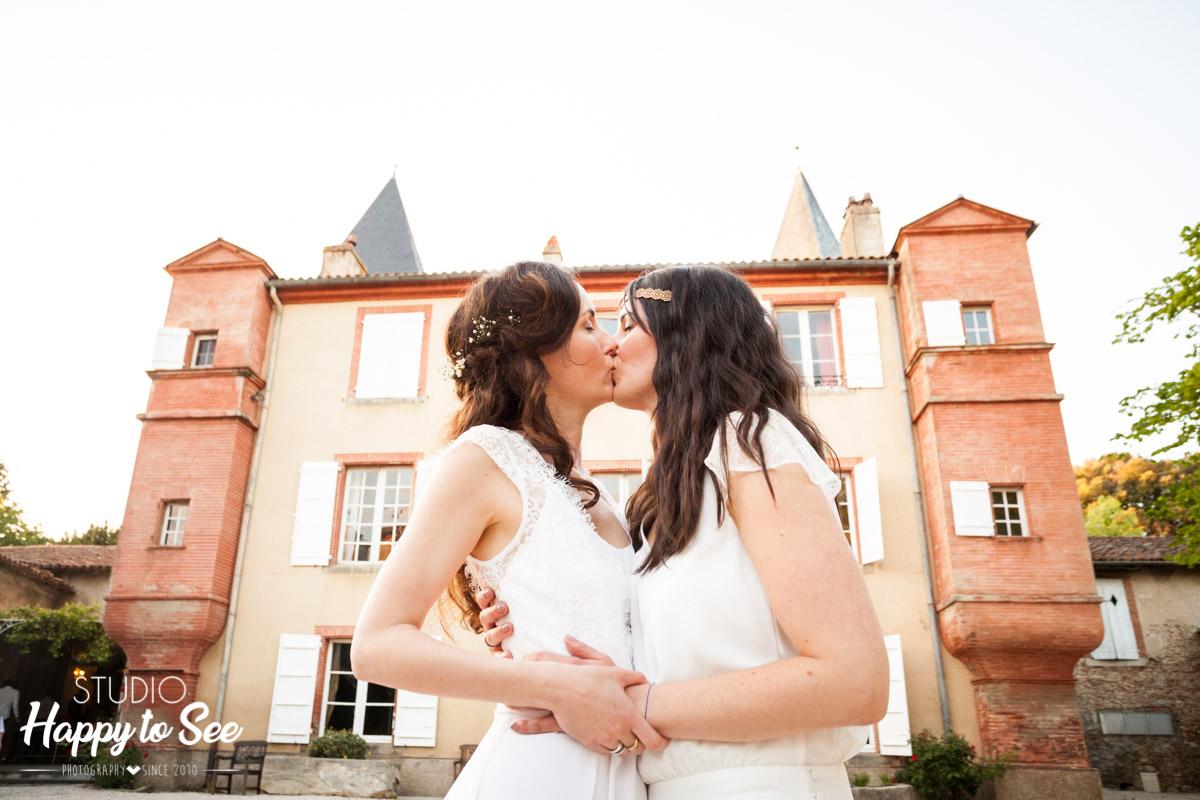 mariage lesbien chateau de riveneuve à pamiers en ariege