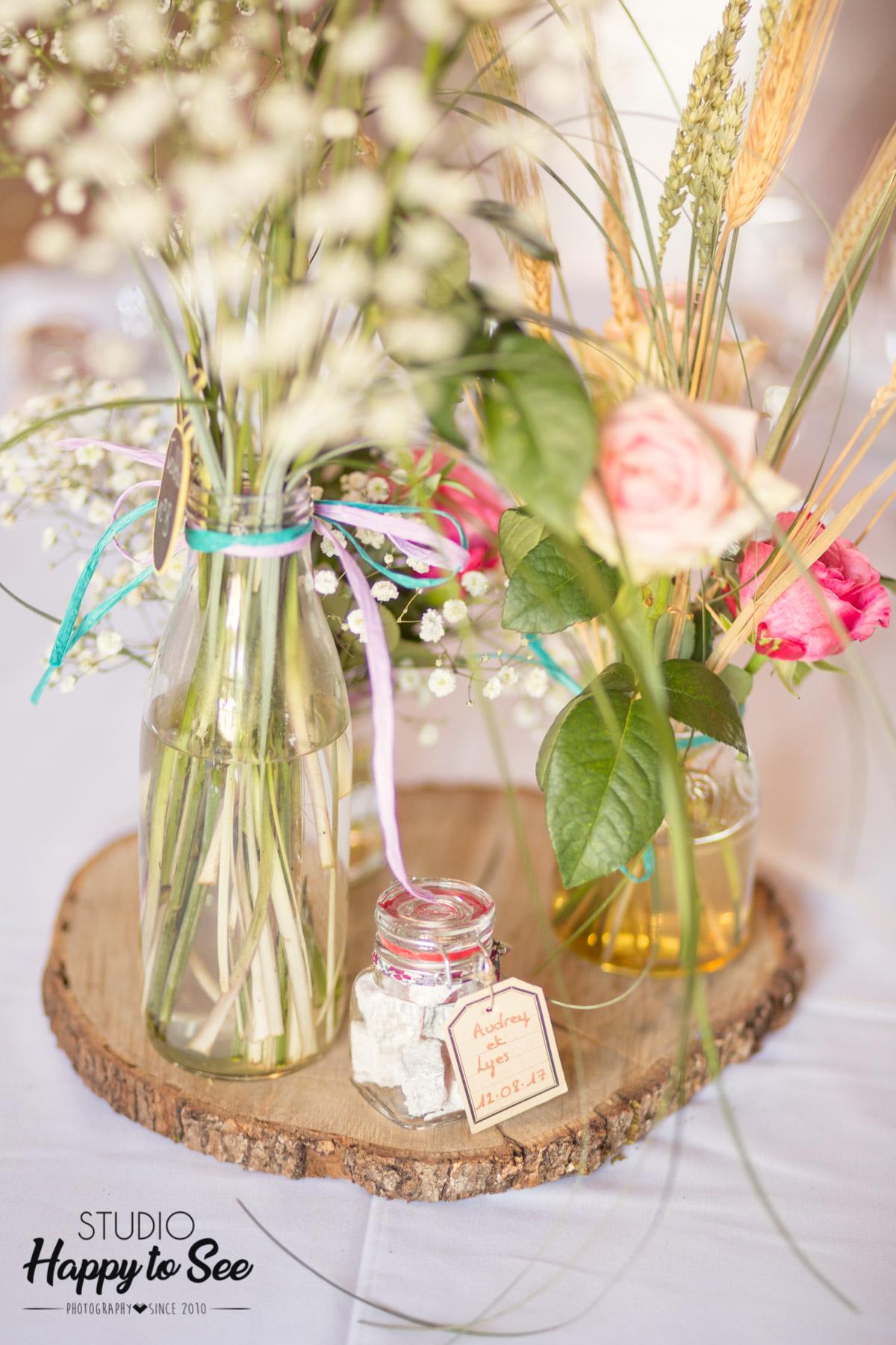 decoration florale champetre table mariage lily et confettis