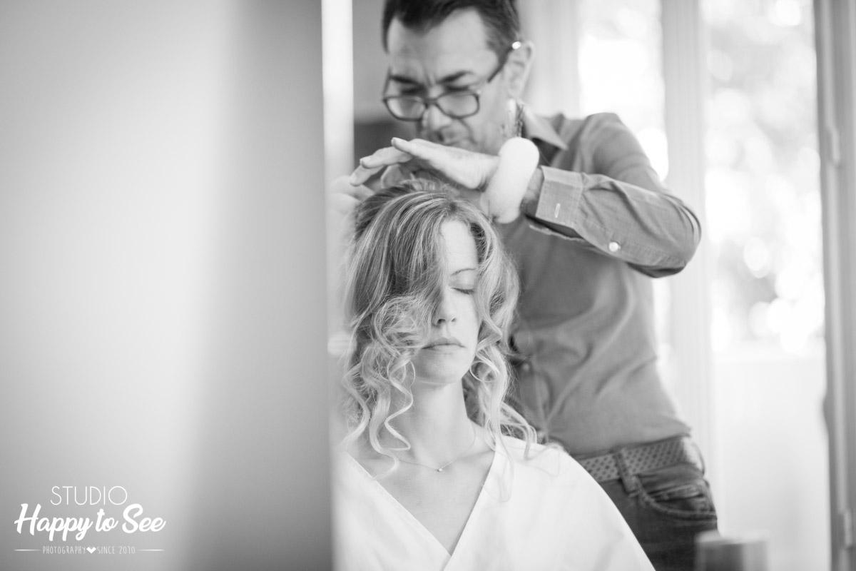 Preparatifs coiffure maquillage de la mariee photographe mariage toulouse albi