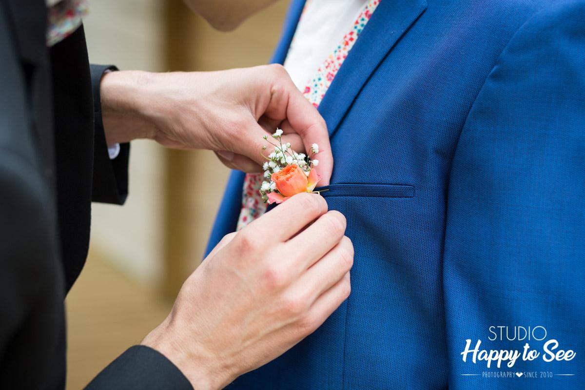 Photographe mariage domaine de la teouliere costume hugo boss
