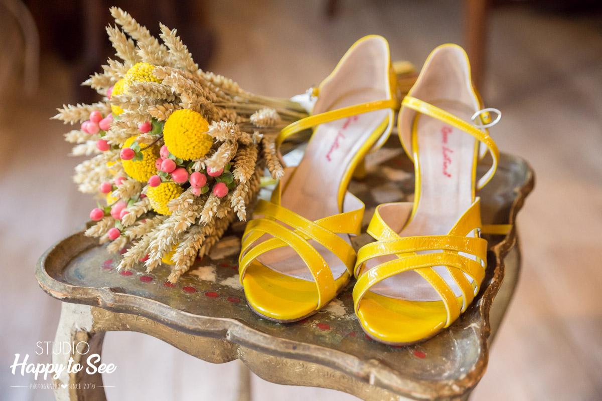 Chaussures jaune Je suis Je danse Toulouse Photographe Mariage