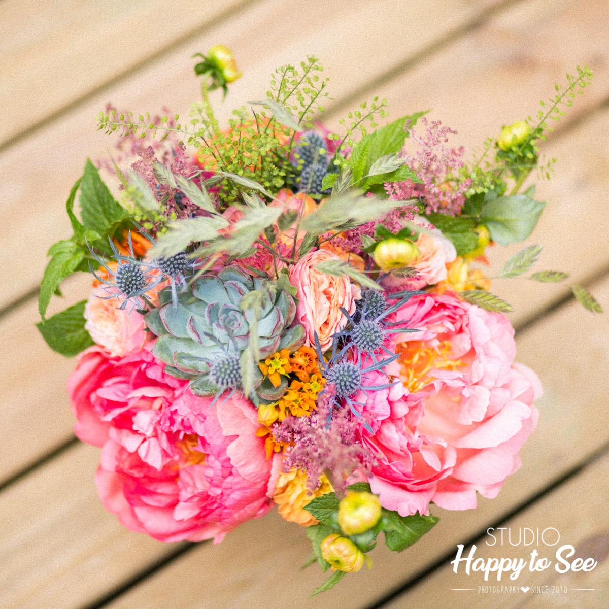 bouquet de fleurs coloré Camomille Flowers