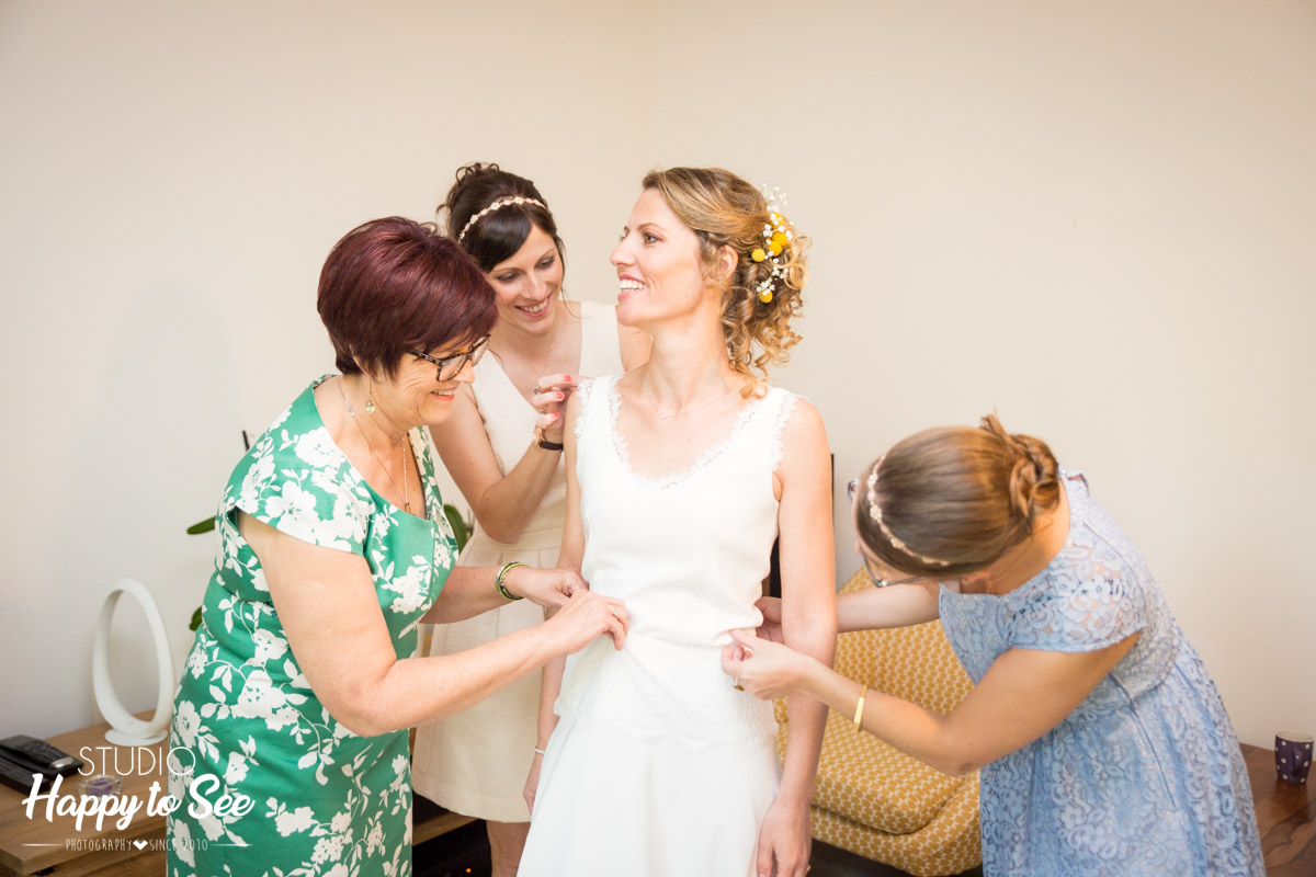 Robe de mariee Atelier 2B reportage mariage preparatifs toulouse
