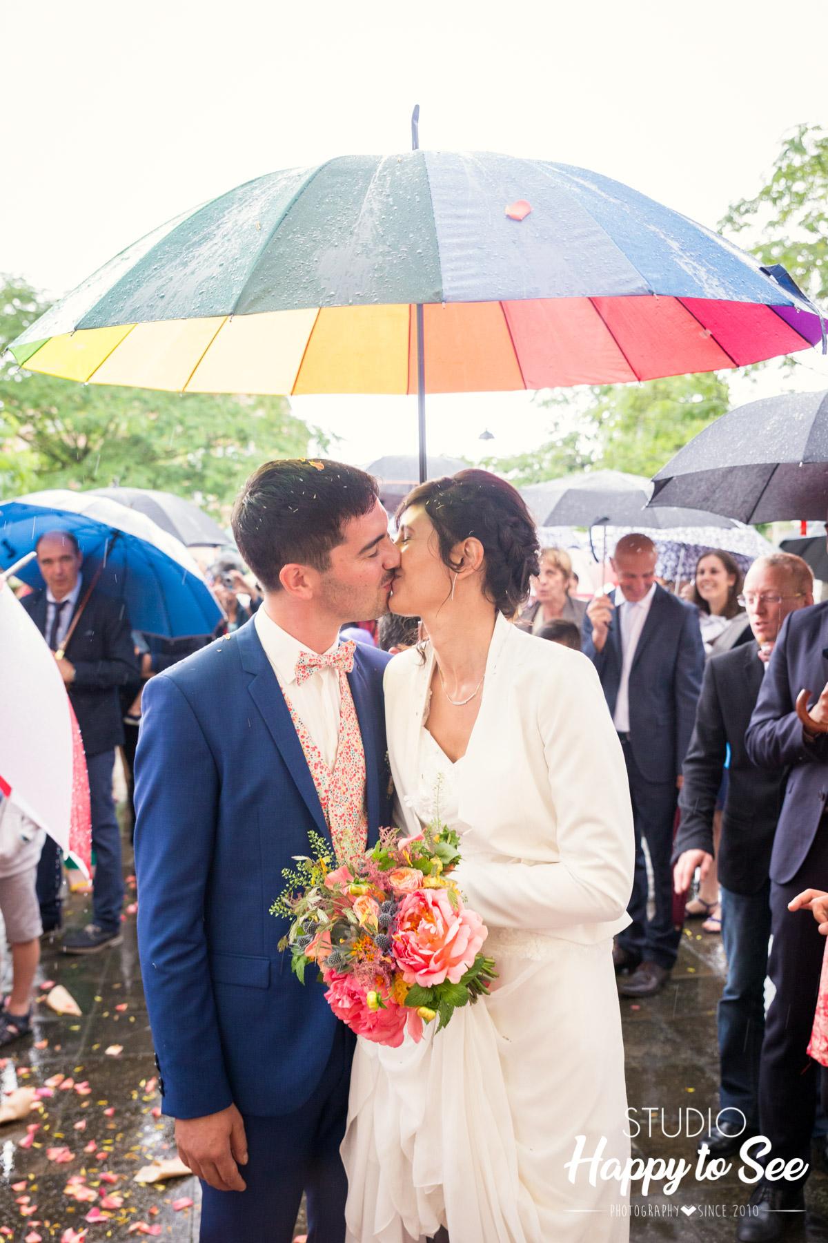 reportage mariage sous la pluie