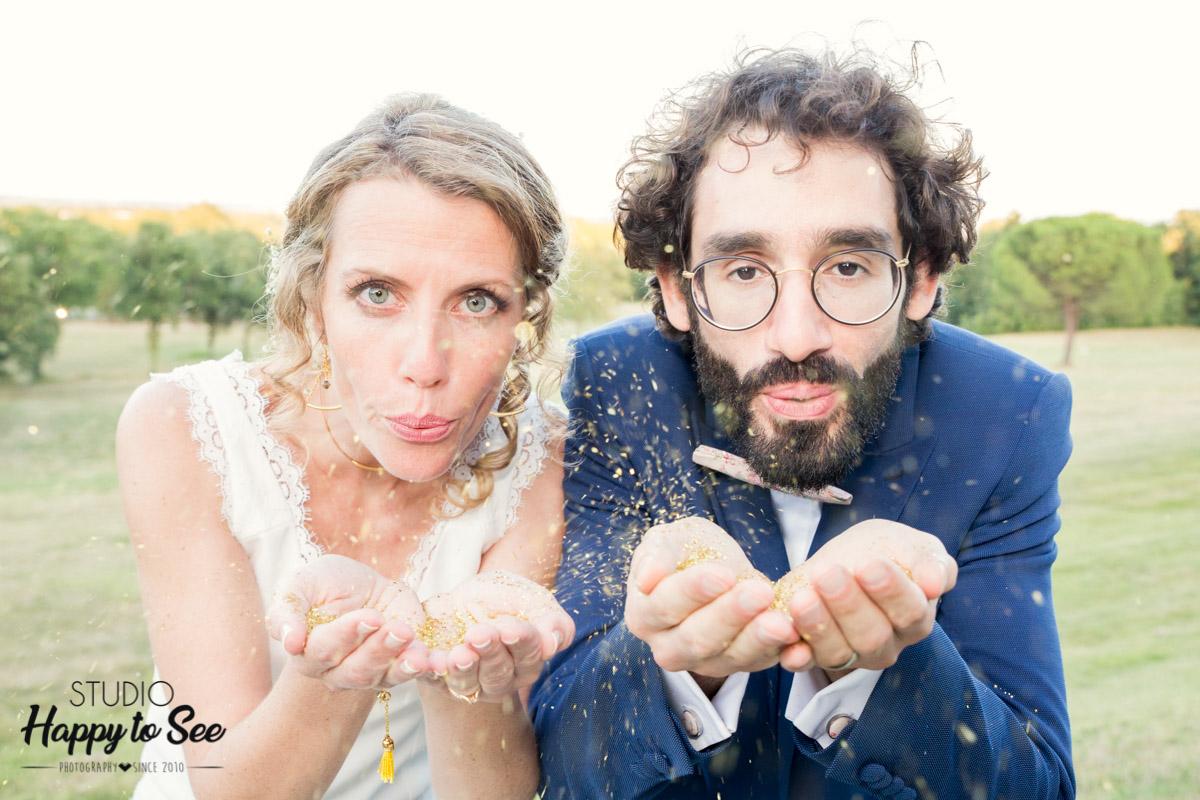 Mariage chateau de merville paillettes