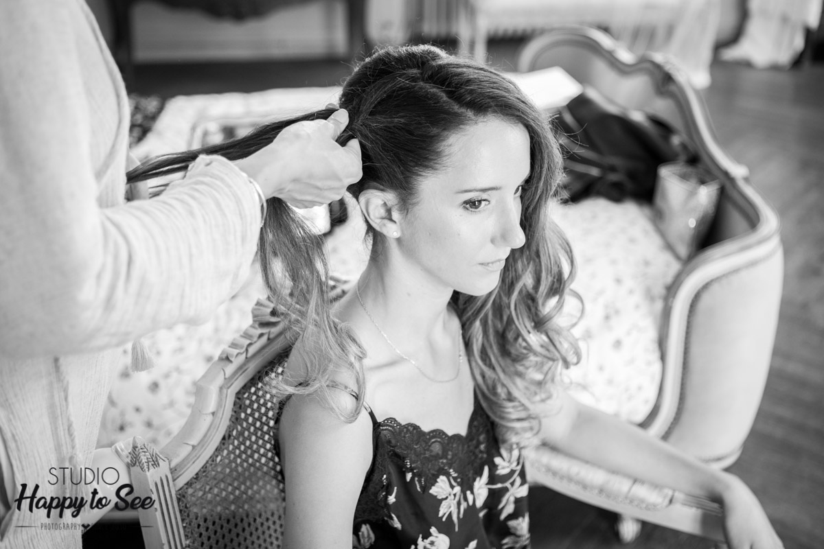 preparatif mariage coiffure Sarah Fekir