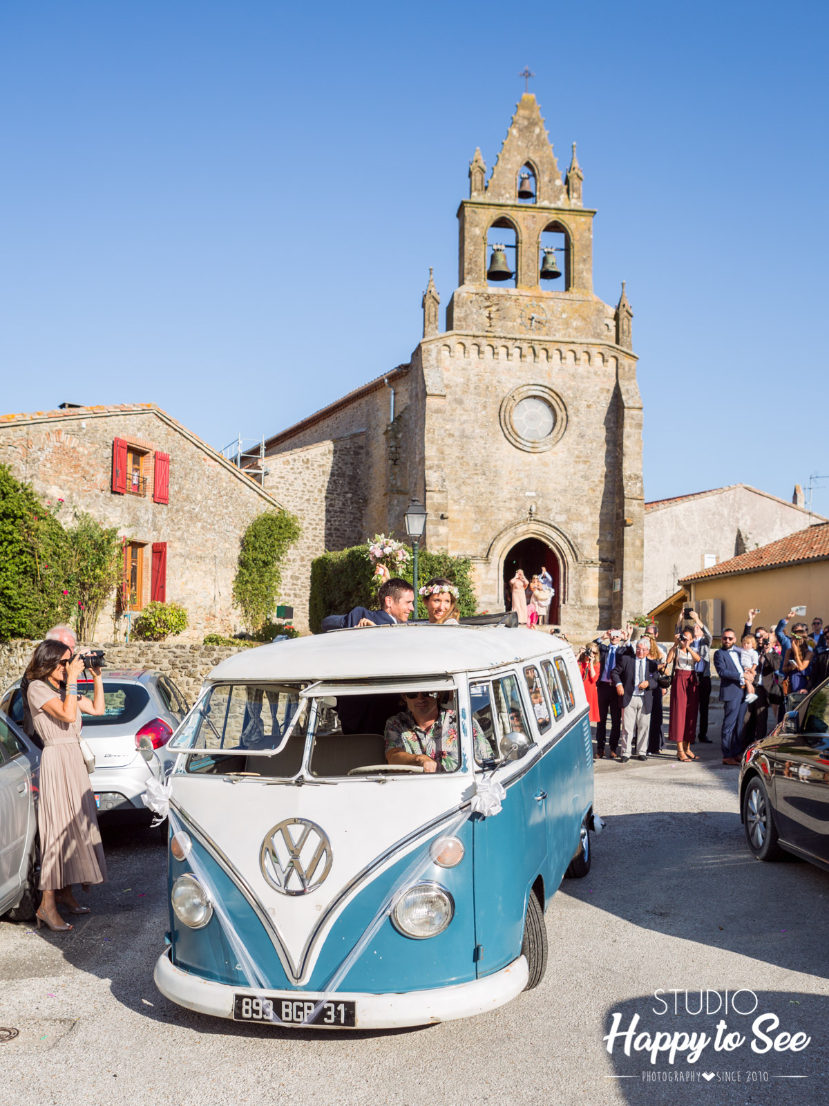 Photographe Mariage Toulouse combi Volkswagen