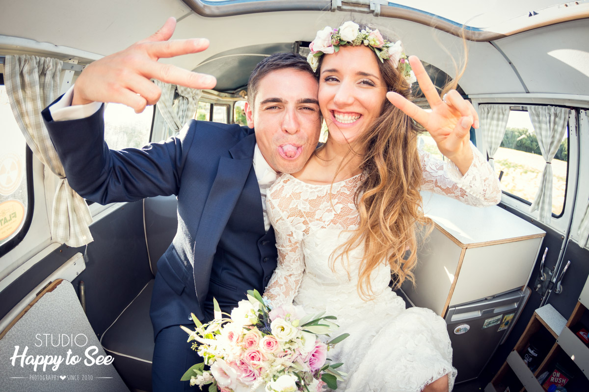 Mariage funky combi Volkswagen