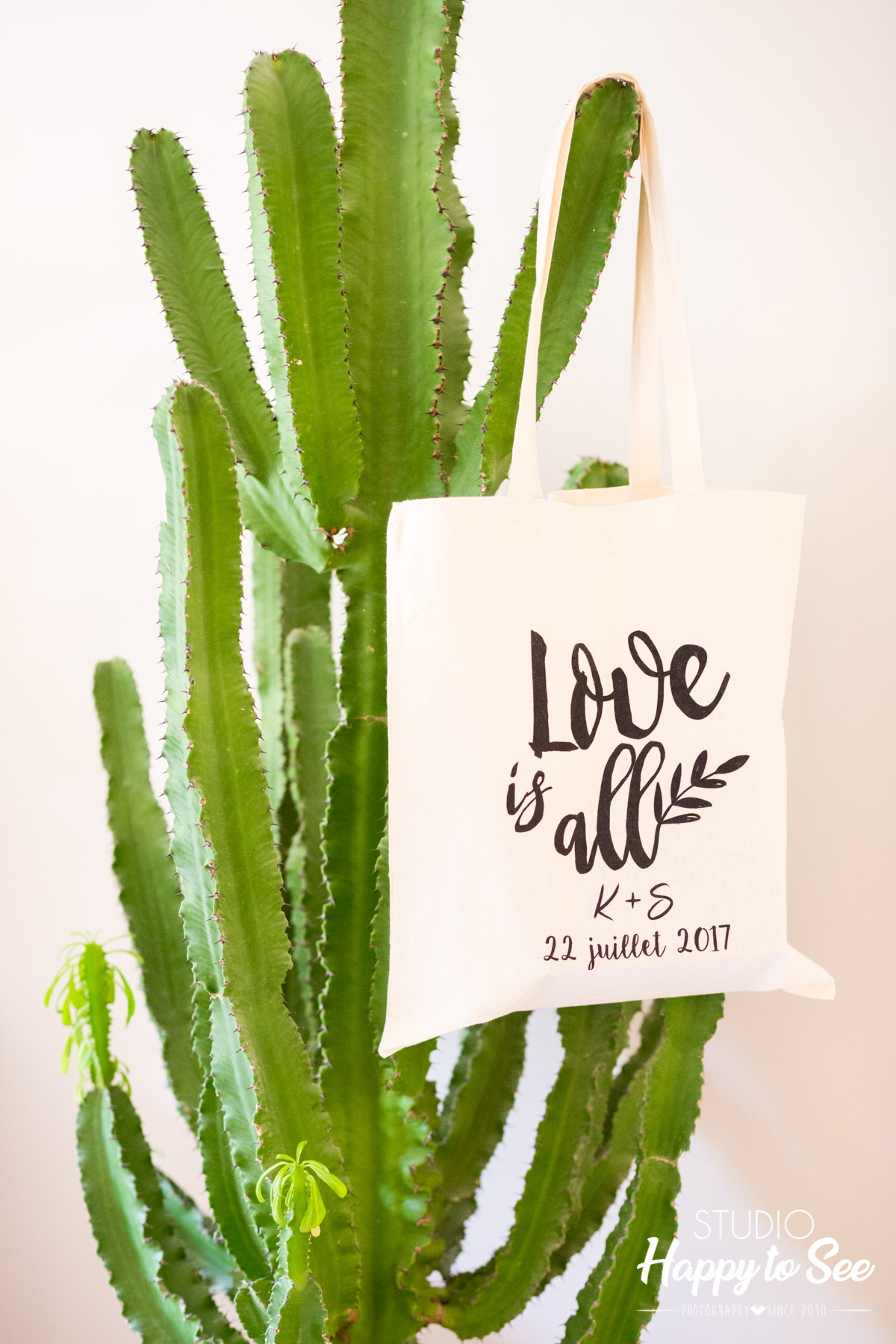 Mariage decoration cactus tote bag Love is all
