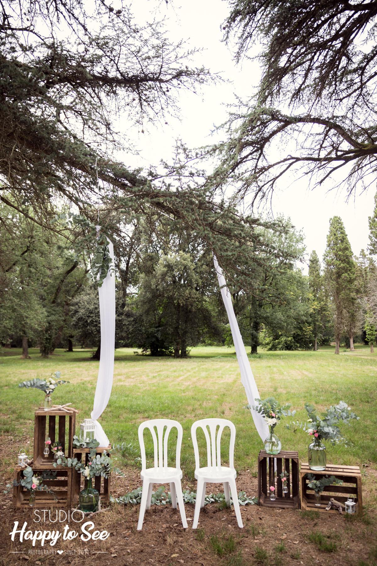 ceremonie laique Mariage champetre Domaine du Galant