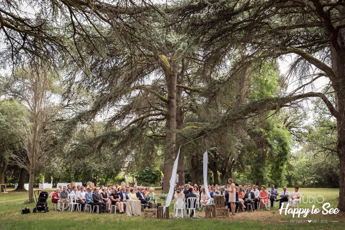 Mariage champetre Domaine du Galant ceremonie laique