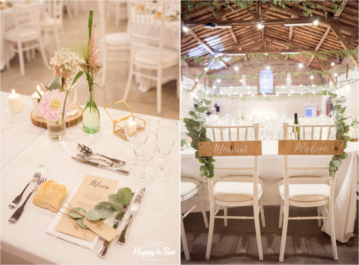 decoration salle mariage Domaine du Galant