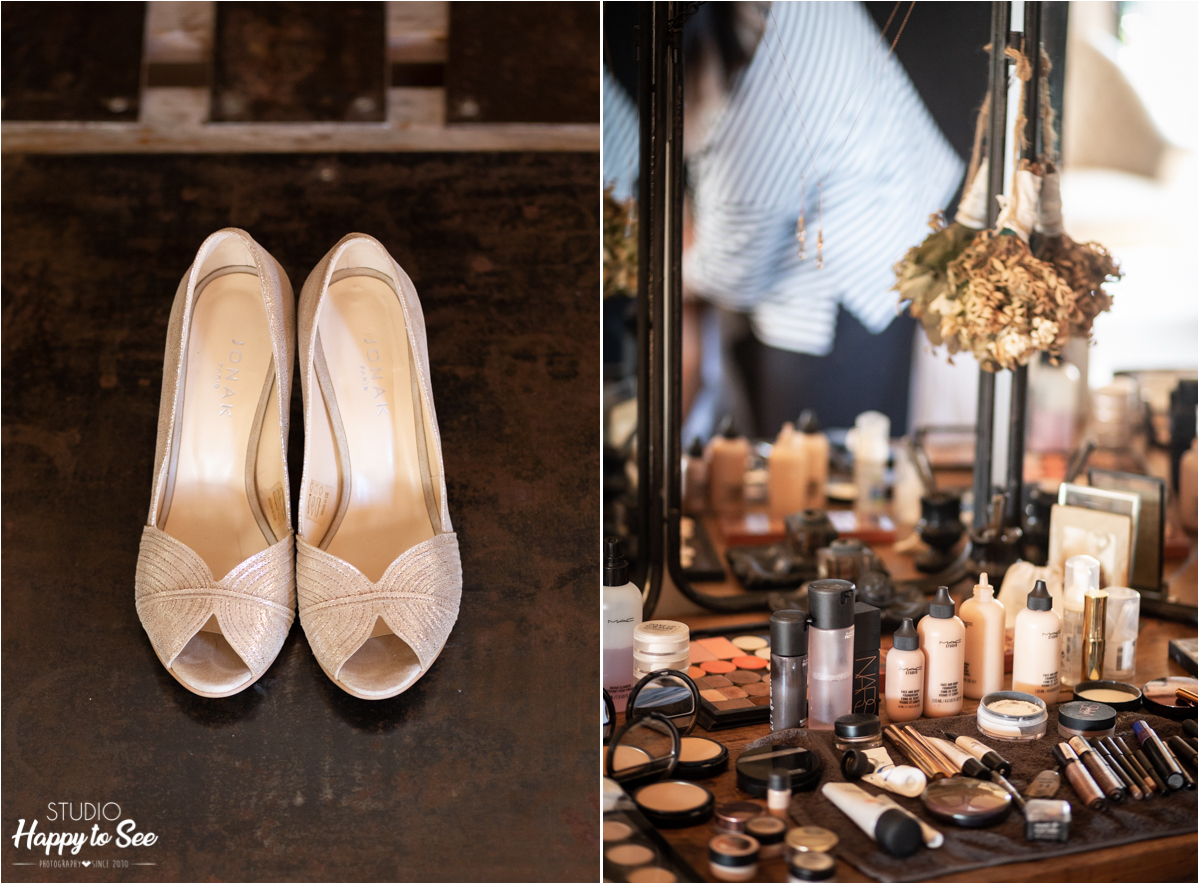 Preparatifs mariage moulin de nartaud