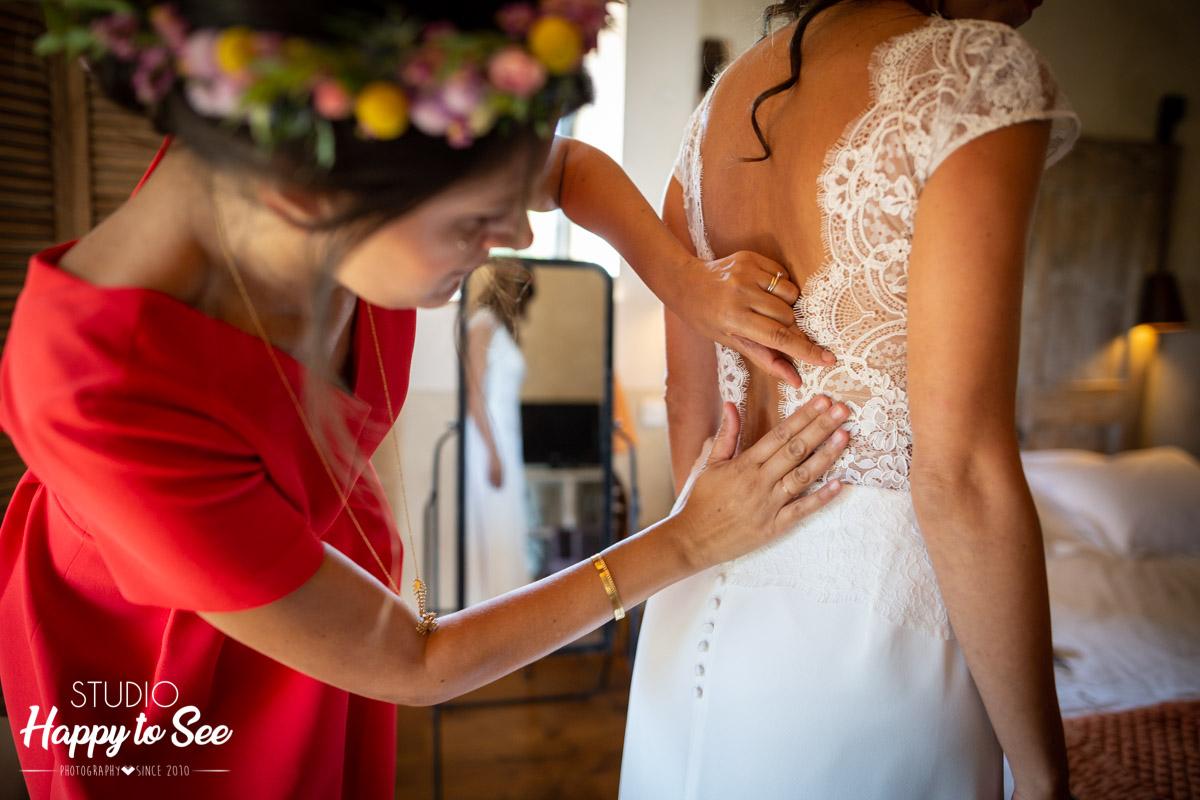 reportage preparatifs mariage moulin de nartaud