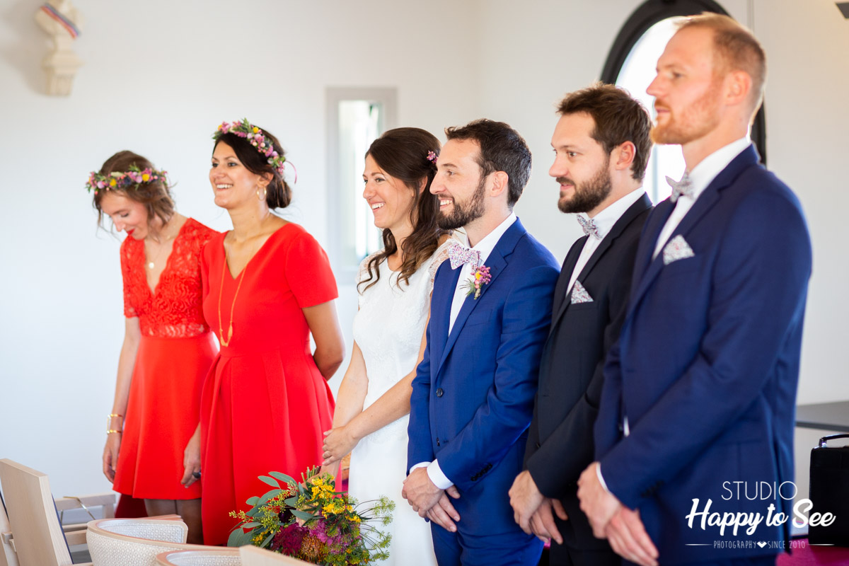 photographe mariage dress code bleu et rouge