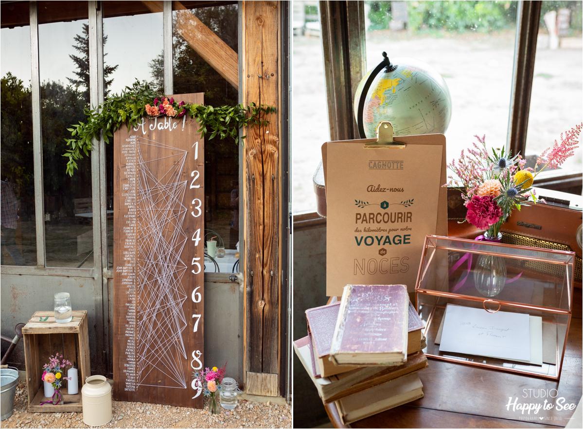 decoration mariage bois champetre chic moulin de nartaud