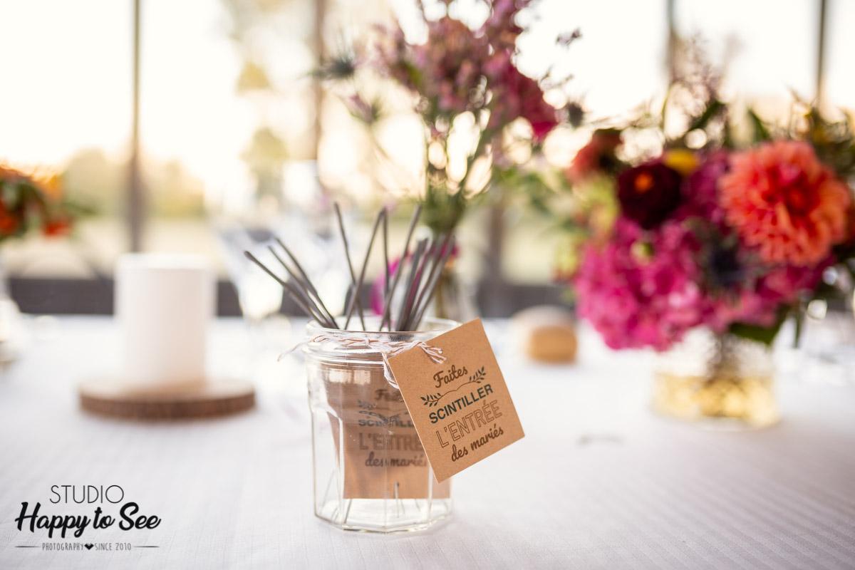decoration table mariage cierges magiques