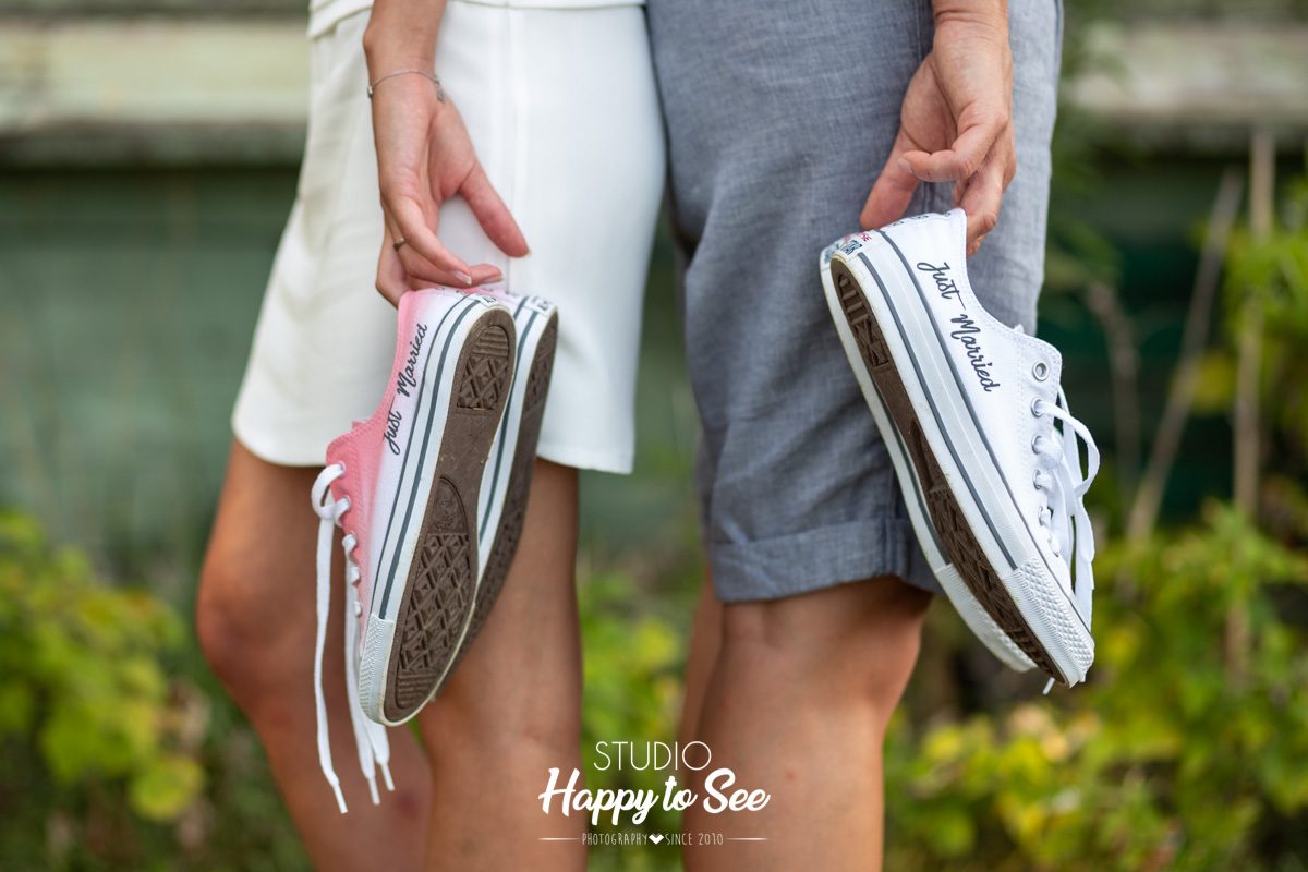 Chaussures Converses Just Married