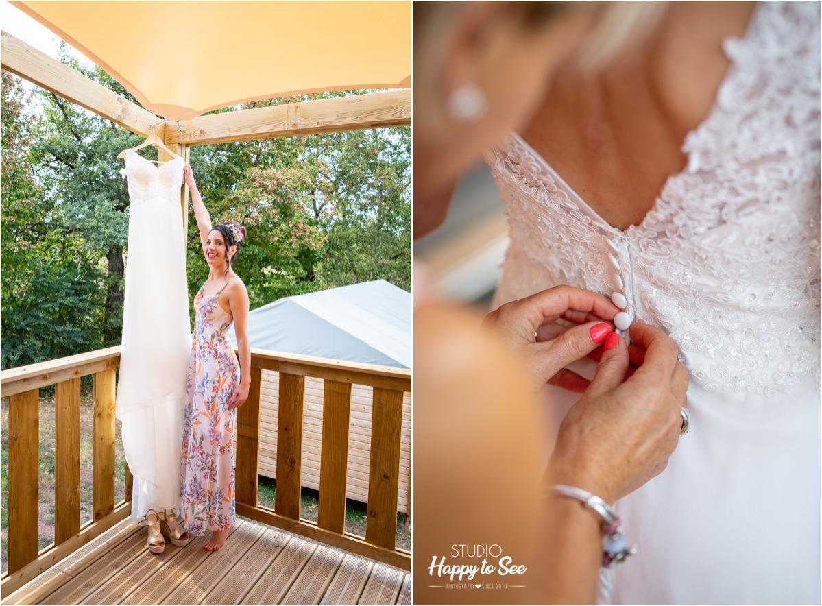 Robe de mariee preparatifs domaine de combelles