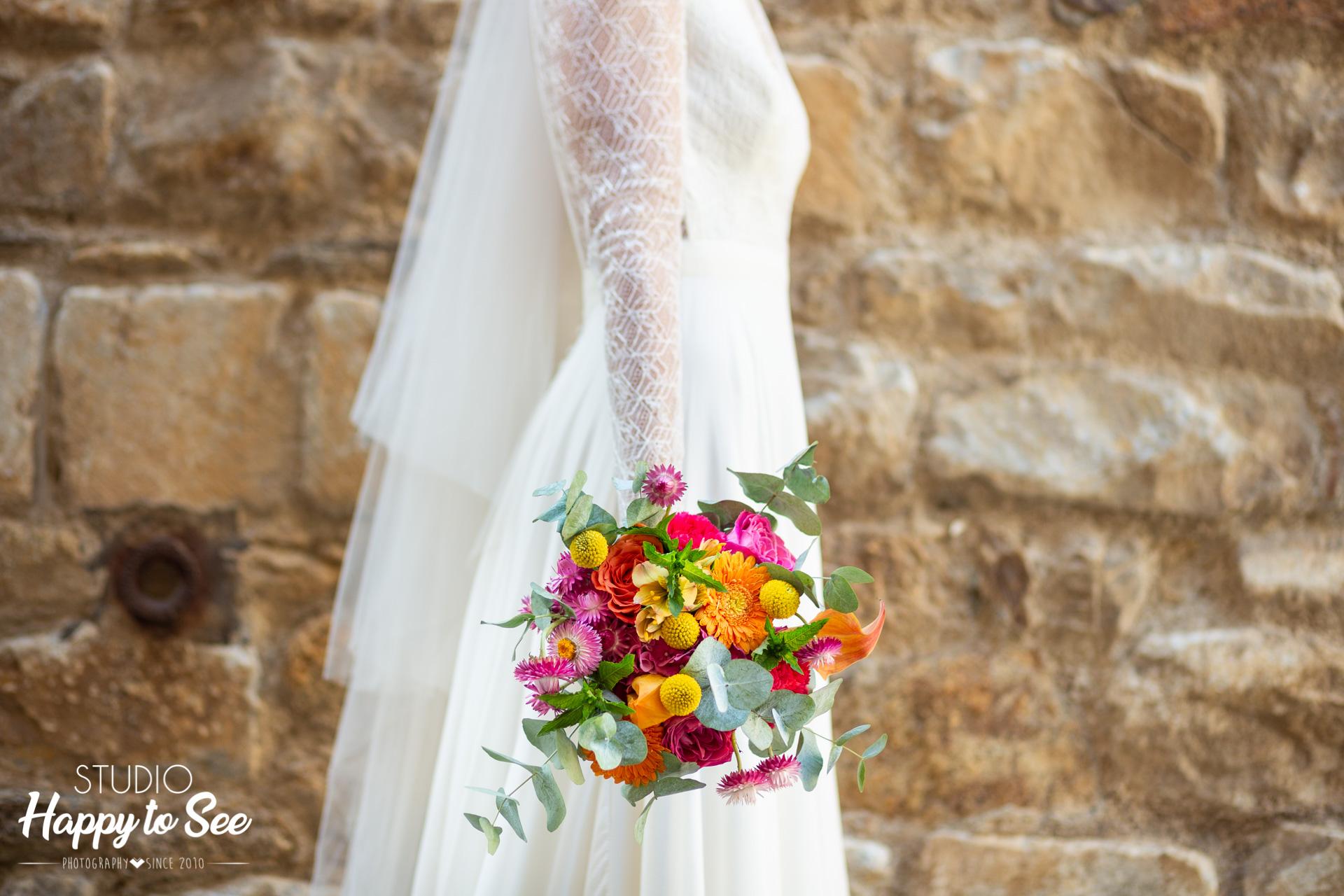 Bouquet mariee De fleurs et d'eau