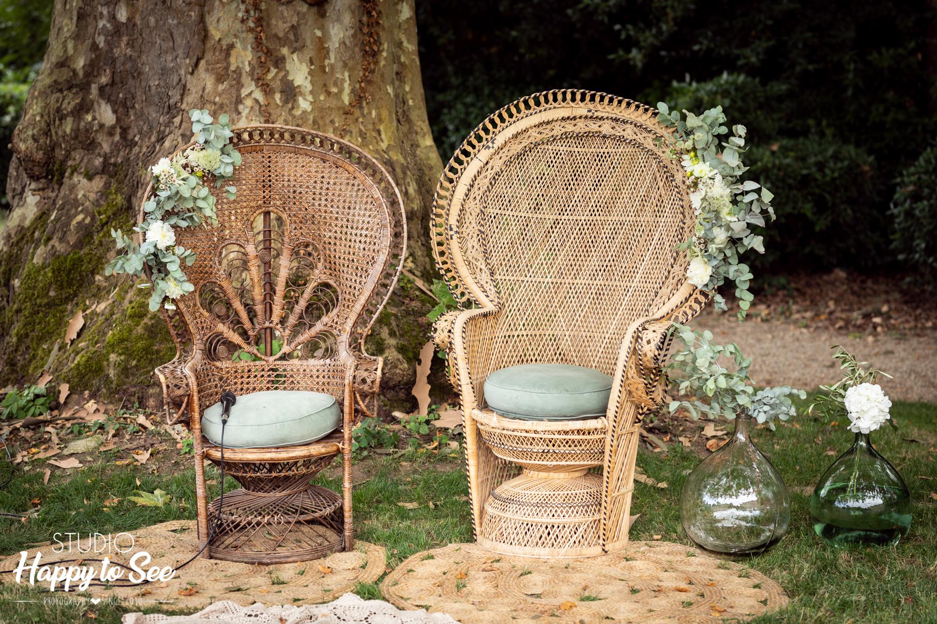 Décoration Mariage fauteuil Emmanuelle Le Grenier de Pauline chaise