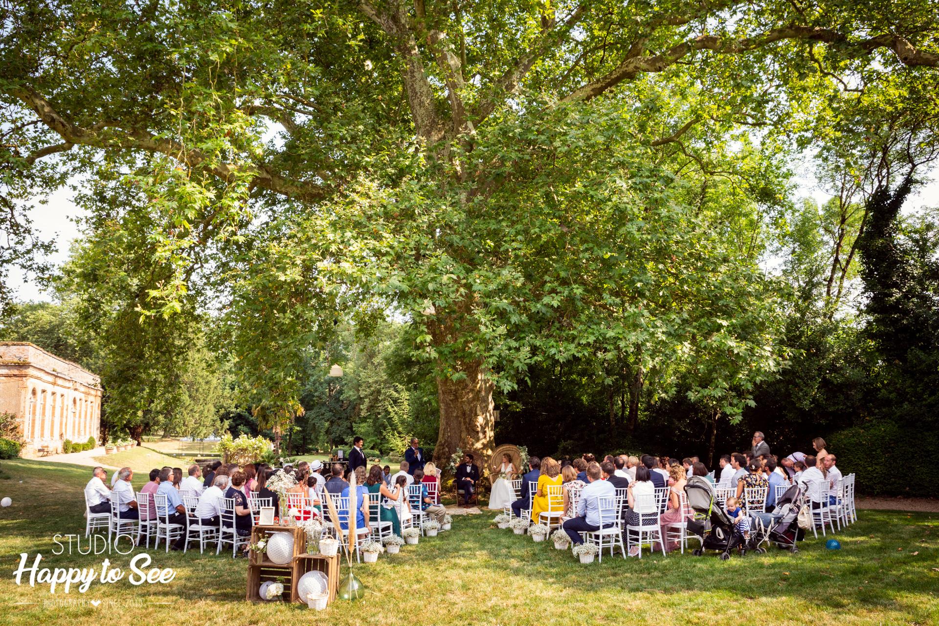 Mariage dans le Tarn Château de Saint Gery ceremonie laique