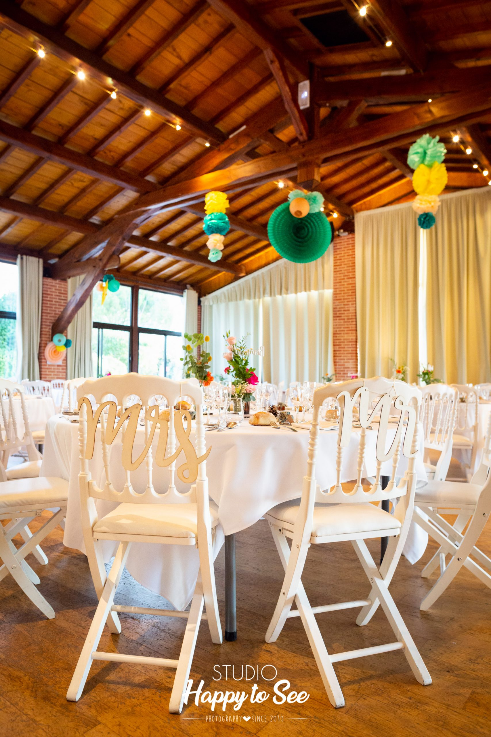 Salle mariage Domaine Combe Ramond decoration