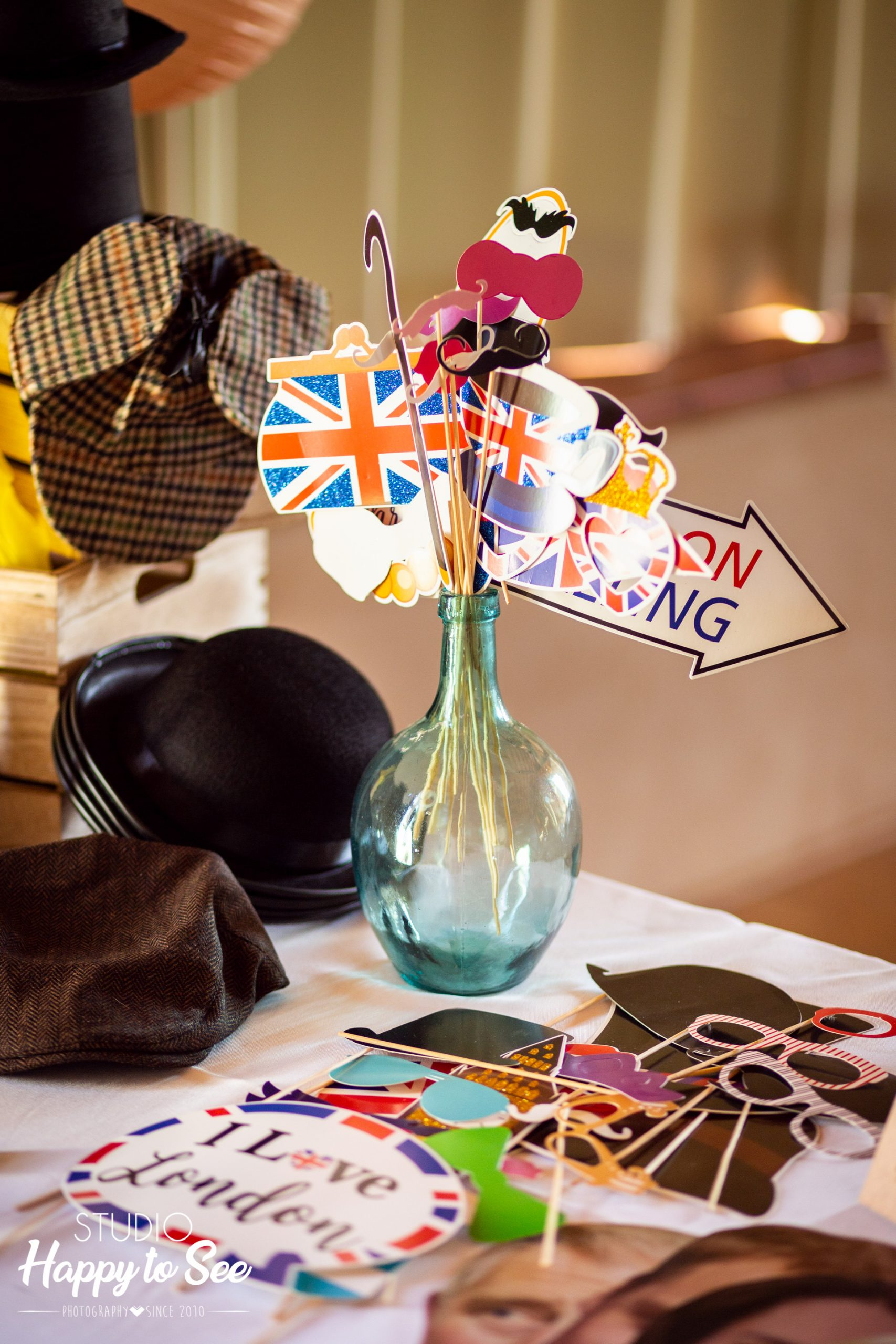 Accessoires photobooth British Angleterre