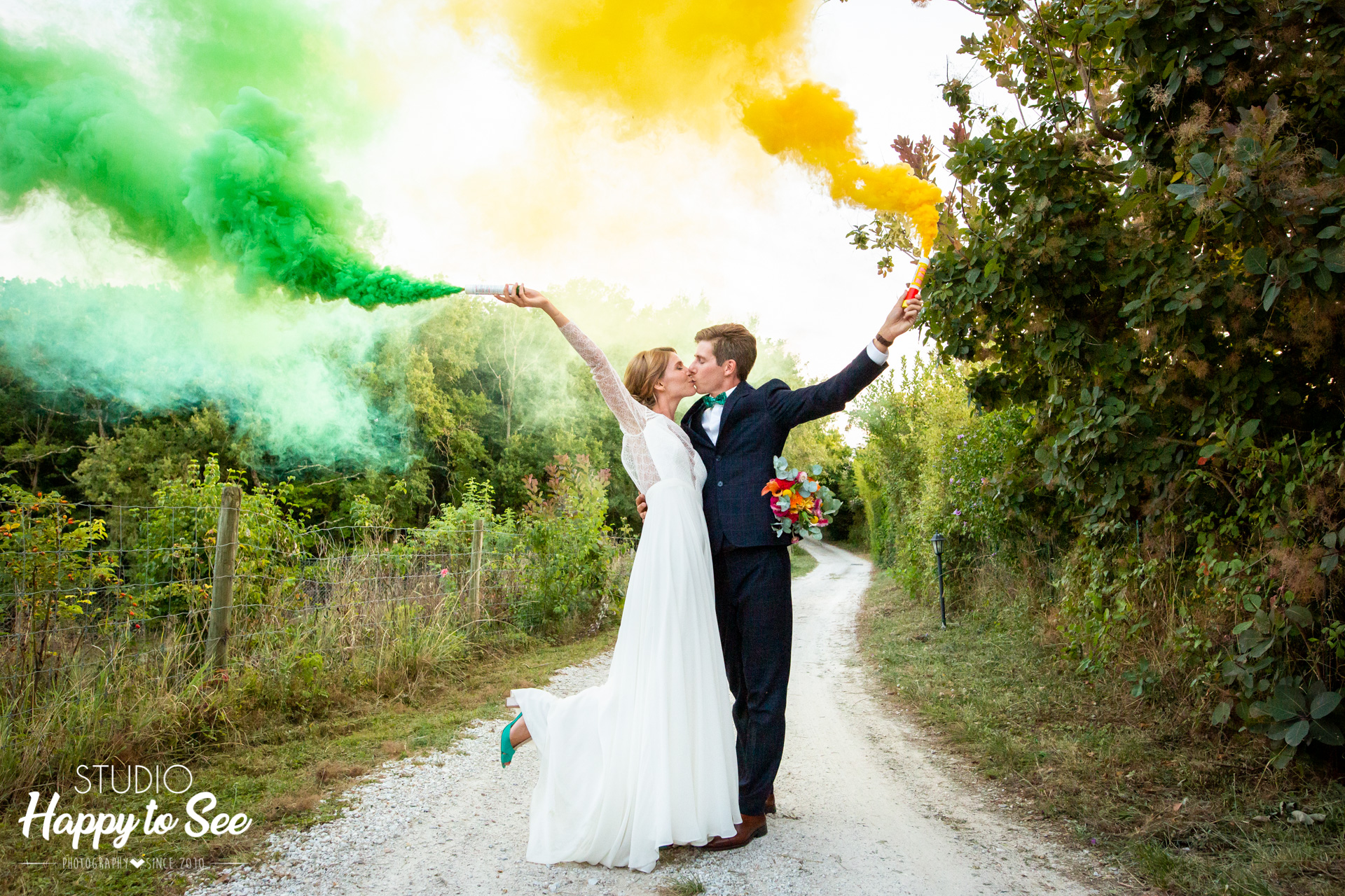 Photographe Mariage Toulouse Albi Domaine Combe Ramond Fumigenes
