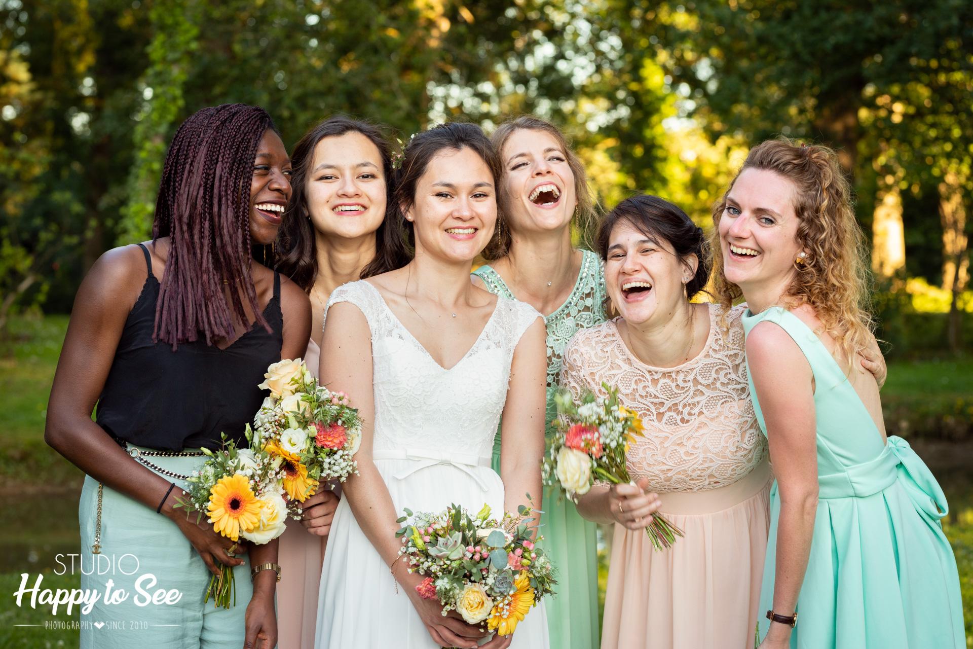 Dress code demoiselle d'honneur mariage coloré