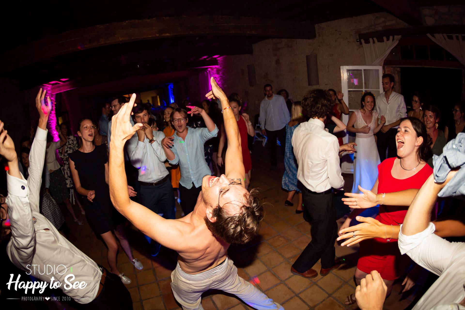 Soirée Mariage dancefloor Chateau du Croisillat