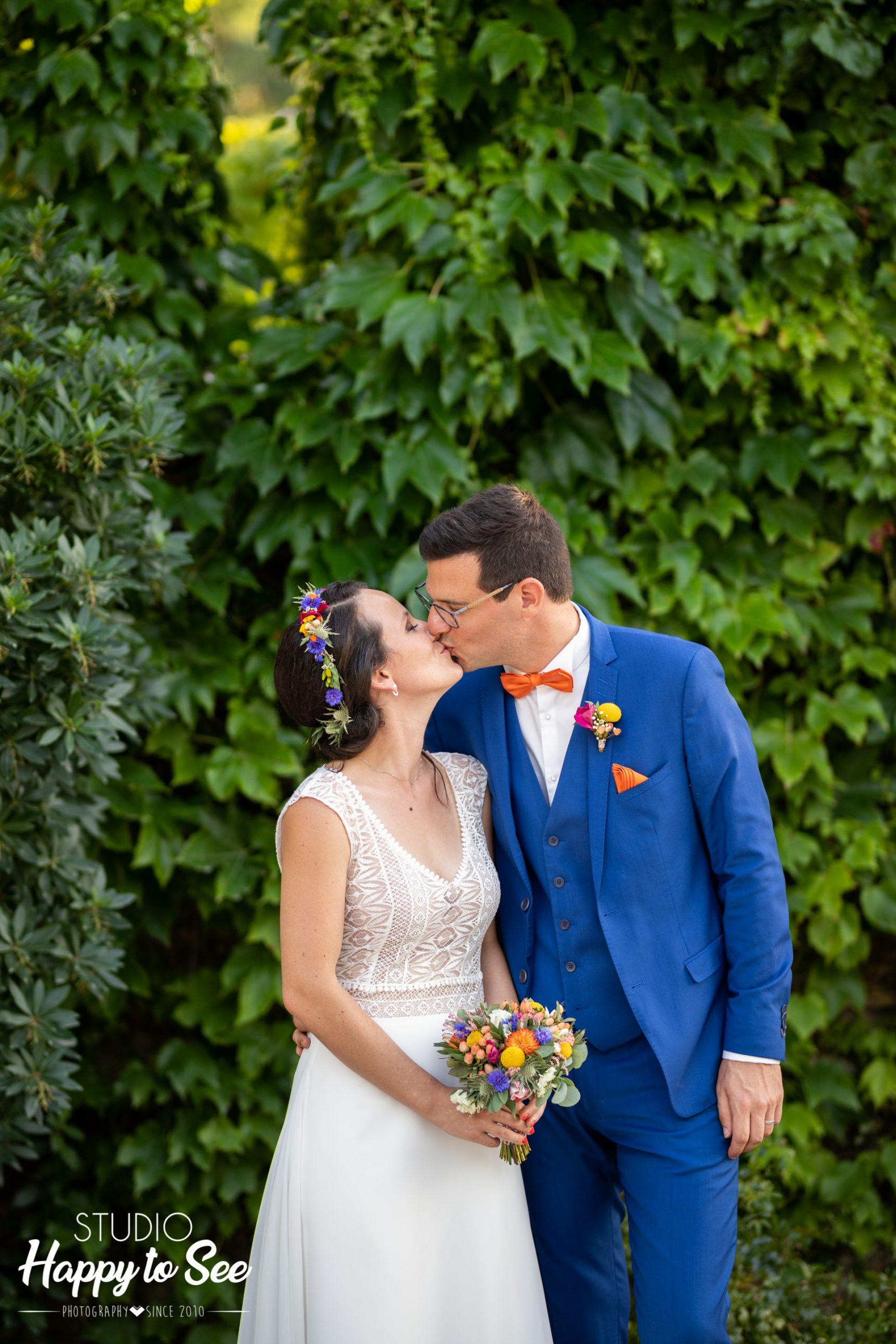 Mariage coloré au Chateau du Croisillat