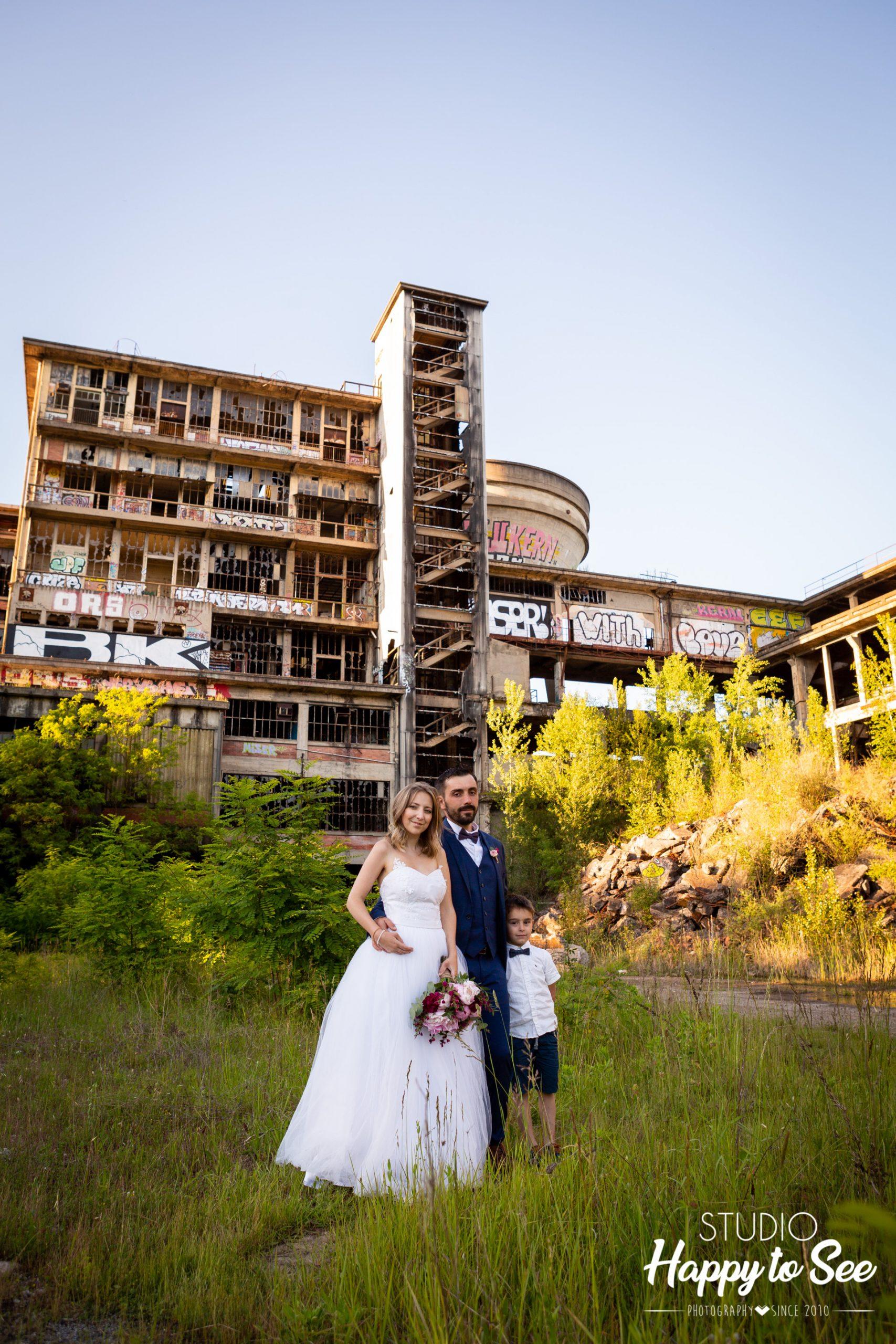 Séance Day After mariage lieu industriel