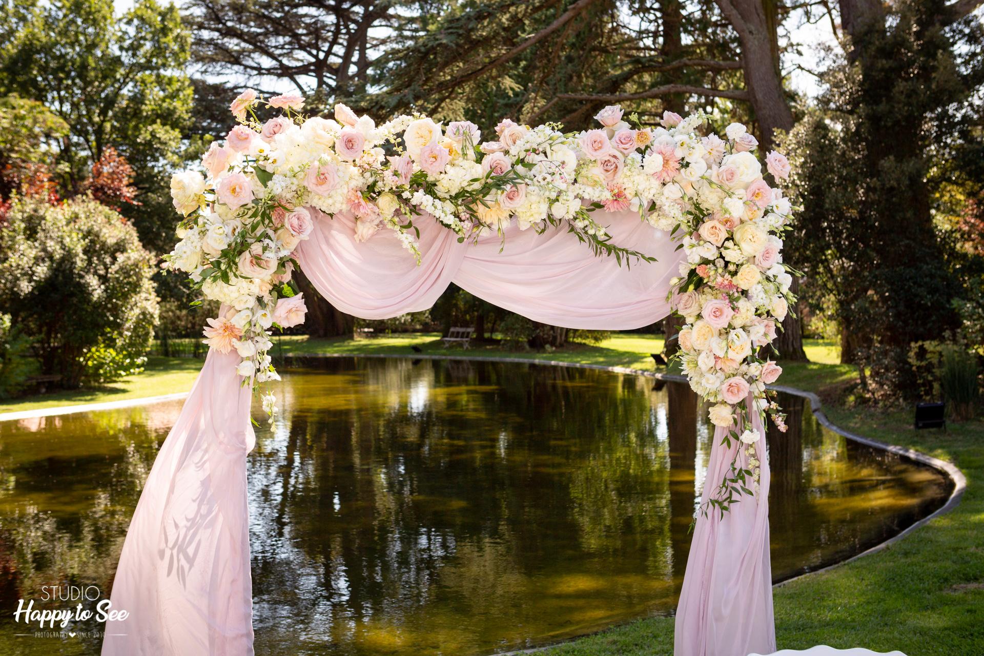 Mariage au Chateau de Roquefoulet decoration ceremonie laique