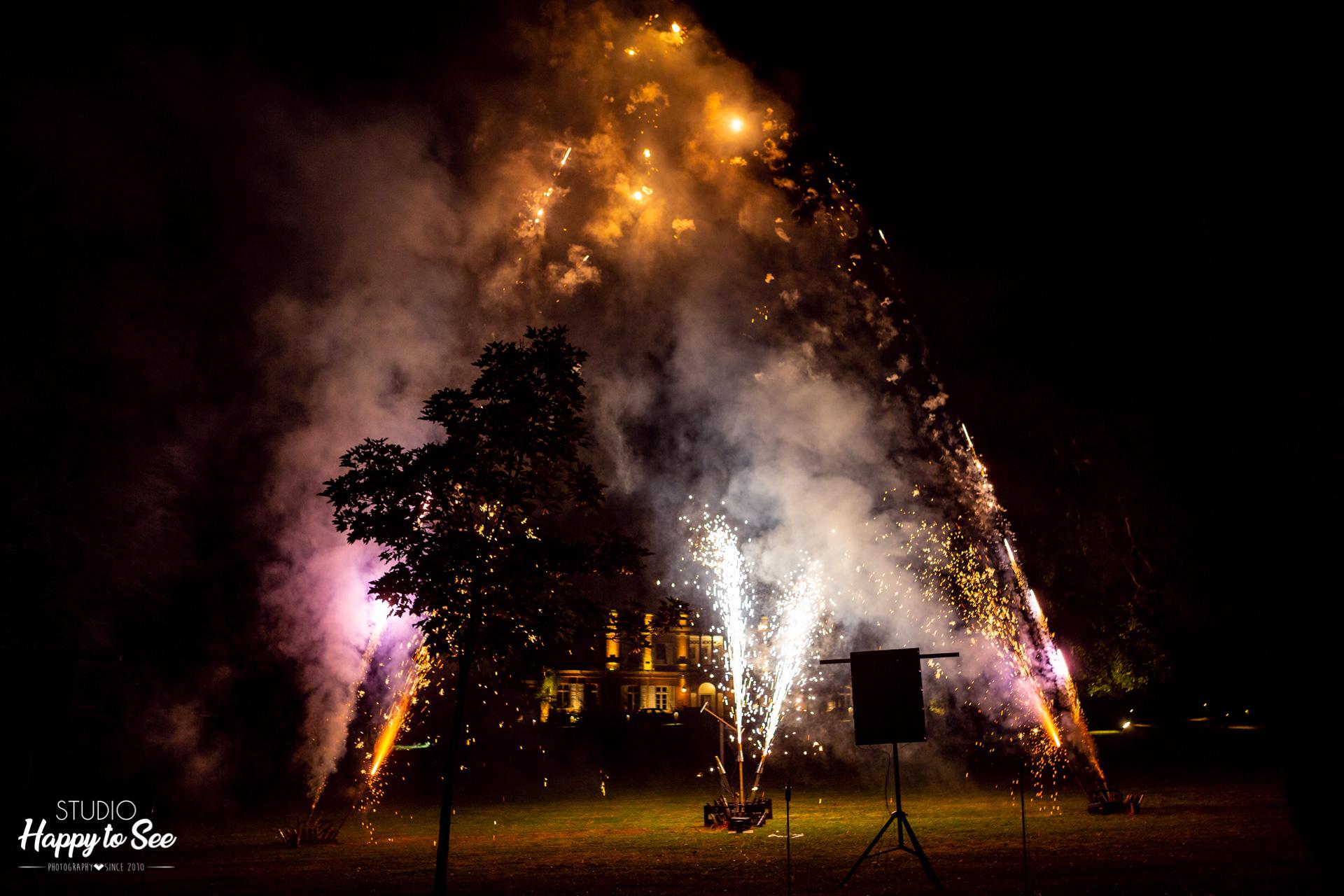 feux d'artifices Mariage au Chateau de Roquefoulet