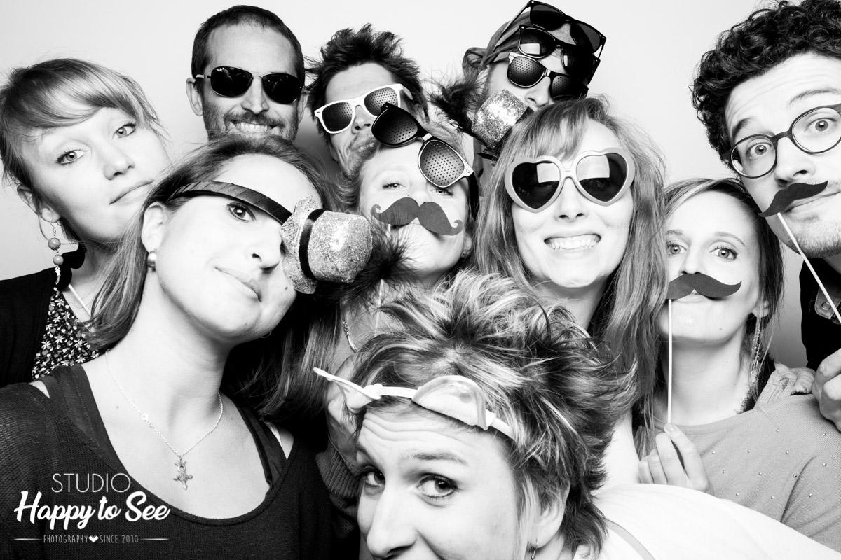 Photobooth anniversaire accessoire moustache