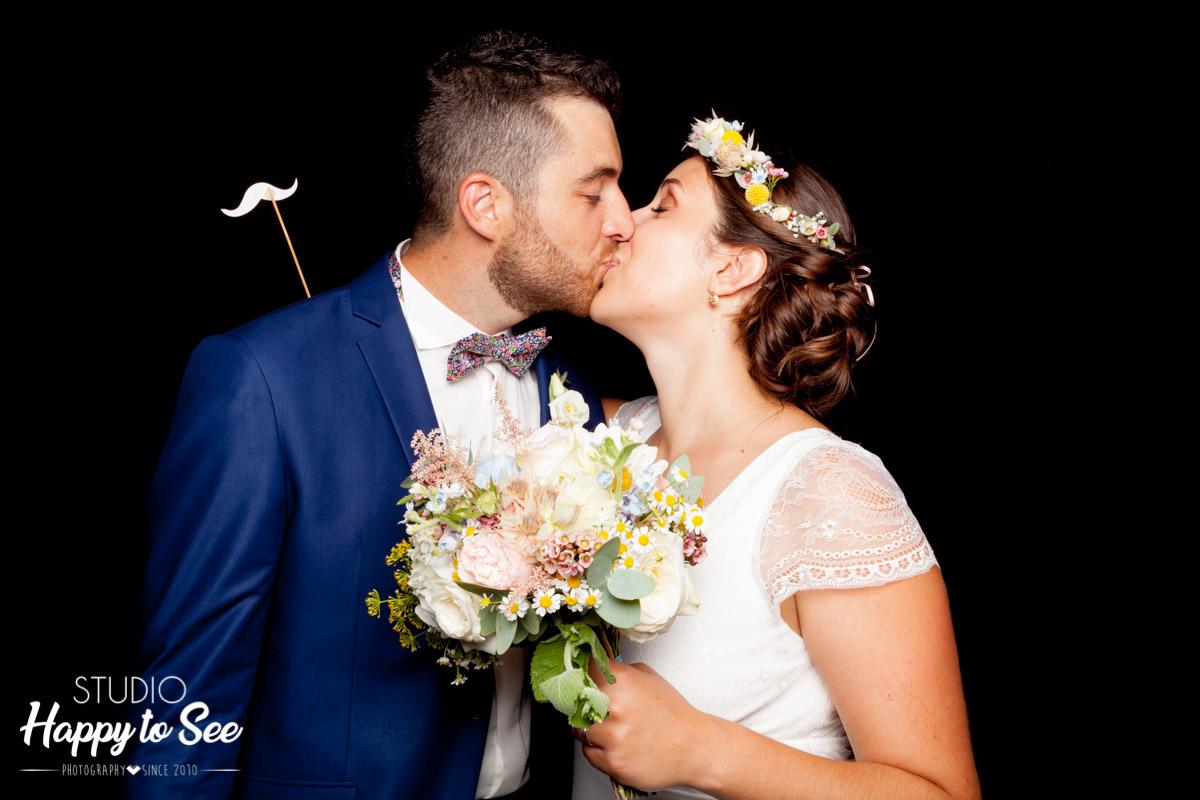 Photomaton mariage boheme chic